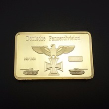 Germany Leopard I Tank Gold Bar 1 Piece Deutschland Commemorative Coins German Gold Bullion Prussia Eagle Souvenir Coin