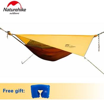 Naturehike Hamac Portable Camping Hamac Avec Moustiquaire Unique Personne Hamac Swing Gris Orange