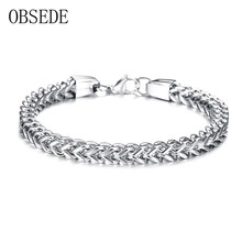 Buy OBSEDE Fashion Bracelets Male Stainless Steel Bracelet & Bangle Link Chain Wristband Men Jewelry Gifts Gold/Silver/Black for $5.87 in AliExpress store