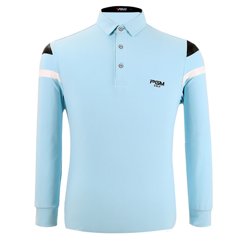 2016 New PGM Golf Apparel Mens Thickening Long Sleeve Shirt Autumn and Winter  High Elastic Fabric<br>
