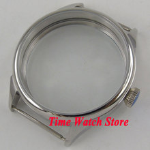 Parnis 42mm Polished 316L stainless steel watch case fit ETA 6497 6498 hand winding movement C137