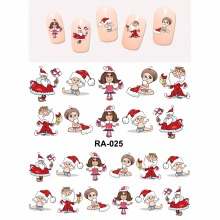 Nail Sticker WATER DECAL SLIDER MERRY CHRISTMAS XMAS SANTA CLAUSE KIDS BOYS AND GIRLS  RA025-030