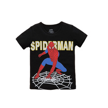 New 2017 boy's t shirt Spiderman cotton short-sleeved t-shirt printing children's cartoon kids boys child's superhero clothes