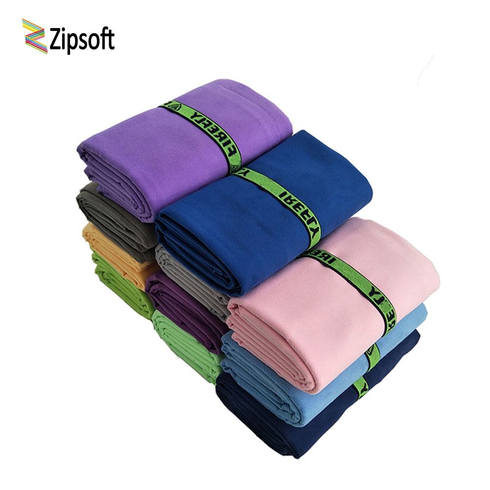 Microfiber Bath Zip TOWEL GYM FOOTY TRAVEL CAMP SWIMMING BEACH MICROFIBRE