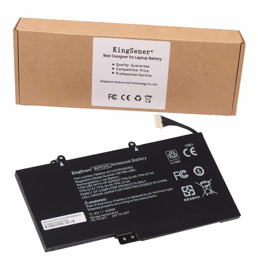 KingSener New Laptop Battery NP03XL for HP Pavilion X360 13-A010DX TPN-Q146 TPN-Q147 TPN-Q148 HSTNN-LB6L 760944-421 Batteria<br>