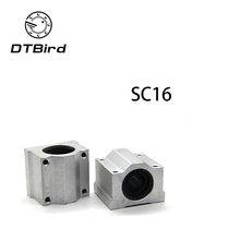 High qualityFree shipping New 4pcs SC16UU SCS16UU 16mm Linear Block(China)