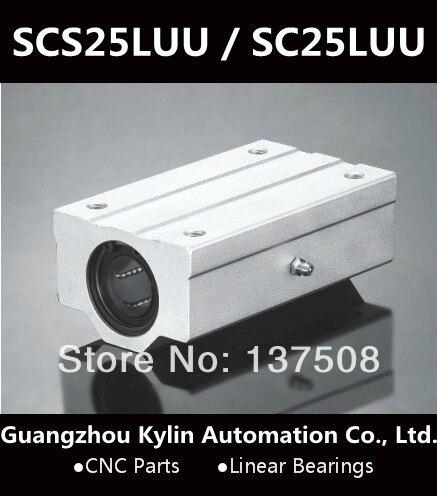 Best Price! 1pcs SCS25LUU / SC25LUU Linear Bearing 25mm Linear Slide Block XYZ CNC SCL Series<br>