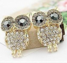 SALE Lose MOney 2014 HOT aliexpress Nice Fashion Jewelry Austria Crystal  Stud Owl Earring New  EP-0011