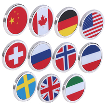Round Mini Car Stickers Decals National Flap Logo Emblem Badge Jeep BMW Fiat VW Ford Audi Honda Toyota Side Decor - Housekeeper Store store