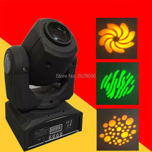 (1 pieces/lot) led stage light equipment 30W moving gobo light mini gobo moving heads dj lights