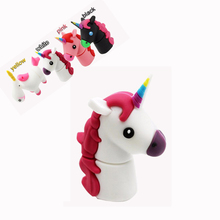 Cartoon USB Flash Drives White Unicorn Minions Pen Drive Horse 4GB 8GB 16GB 32GB 64GB Memory Stick pendrives 32 gb U Disk(China)