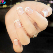 French Nail Sticker Tips Manicure Pre Design Nail Art Stickers Tips DIY Styling Beauty Tools Wholesale Kunstnagels Free Shipping(China)