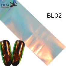Tracy Simple Nail 100*4 cm Nail Art Foil Adhesive Glue Shiny Fingernail Paper Tips Full Cover Laser Manicure Tool TRBL02