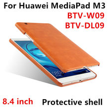 "Case Cover For Huawei MediaPad M3 Smart covers PU Leather Tablet PC For Huawei M3 BTV-W09 DL09 Protective shell 8.4""inch Cases(China)"