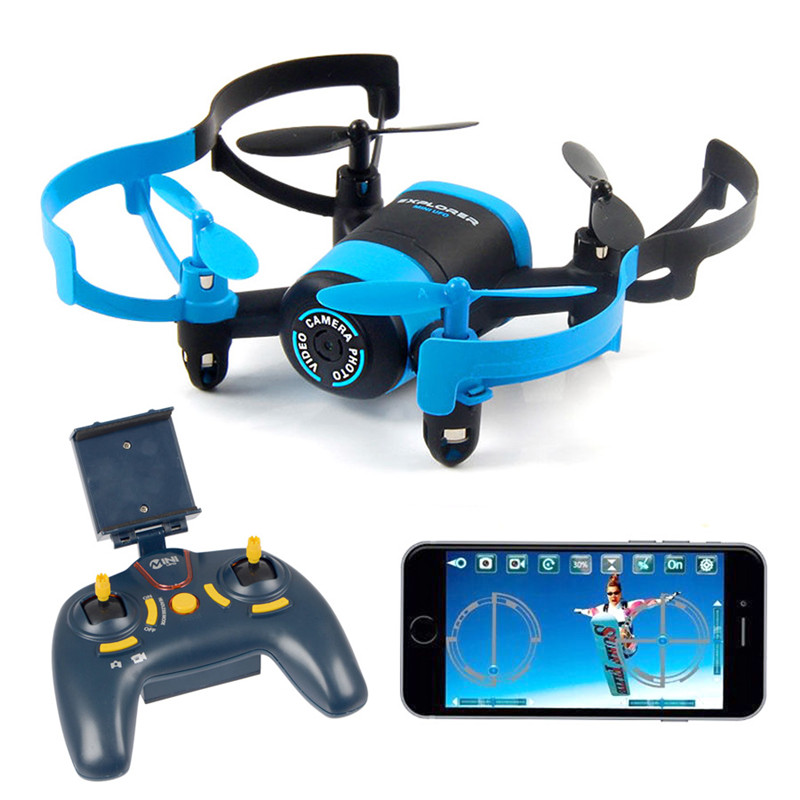 Headless Mode JXD 512W 4-Axis 2.4G Mini WiFi Drone 2.4G RC Quadcopter Transmitter Spare Propeller with 0.3MP HD Camera RTF Combo<br>