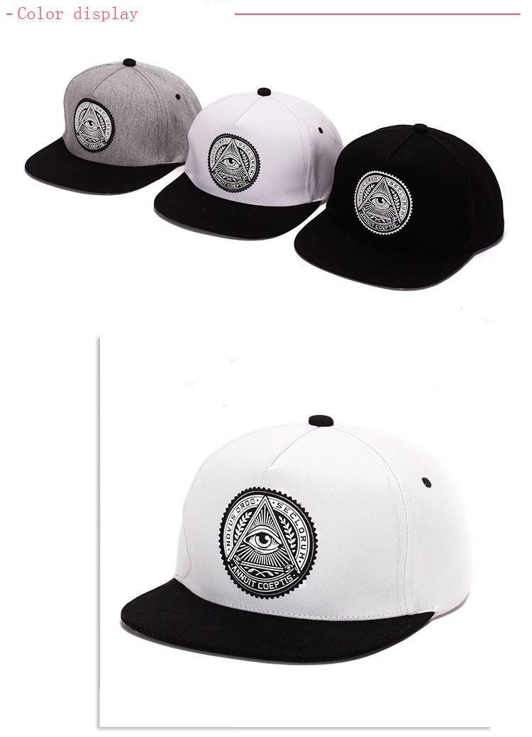 96c5abafb1a 2018 Fashion Round Label Triangle Eye Illuminati Snapback Hats Women  Adjustable Baseball Cap Men Snapbacks Hip Hop Hats