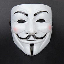 1Pc Party Cosplay Mask V For Vendetta Anonymous Film Guy Fawkes Face Mask Fancy Dress Halloween Masque 2 Colors(China)
