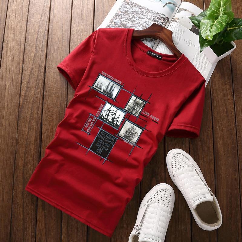 Jalee Man 18 Men's T-Shirts Plus Size 5XL Tee Shirt Homme Summer Short Sleeve Men T Shirts Male TShirts Camiseta Tshirt Homme 5