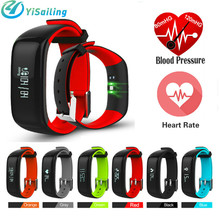 Yisailing P1 Smart Bracelet band Bluetooth Heart Rate Blood Pressure Monitor Wristband Waterproof Smartband for IOS android