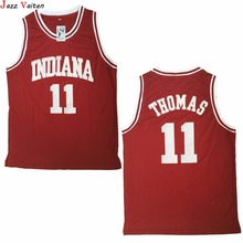 Jazz Vaiten Men Movie Jersey Throwback Basketball Jersey Isiah Thomas 11 1981 Indiana Hoosiers College embroidery mesh shirts(China)