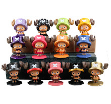 WVW 9CM Hot Sale Anime One Piece New World Chopper Model PVC Toy Action Figure Decoration For Collection Gift(China)