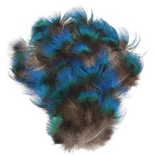 50pcs/set DIY Peacock Blue Pheasant Plumage Feathers for Craft Trimmings Decor DIY Headdress Decorative Sewing Crafts Supply