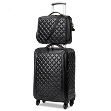 "20""24"" Trolley luggage Soft PU leather  luggage travel  suitcase male and female universal wheels luggage"