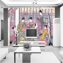 Japanese restaurant frescoes bedroom living room wallpaper high quality bathroom lobby mural custom restaurant Wallpaper