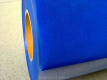 CDF-06 Royal blue Flocking transfer PU VINYL FILM, heat transfer flock vinyl for garment with size:50*100cm/lot(China)
