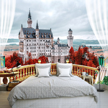 European Countryside Scenery Photo Wallpaper Custom Bedroom Wall Mural Space Expansion 3D Non-woven Embossed Mural Wall Papers