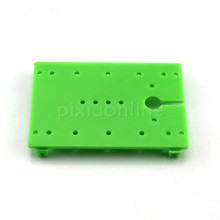 2pcs/pack J372 40*60mm Green Plastic Baseboard Multi Holes Model Car Chassis Technology Making Free Shipping Russia