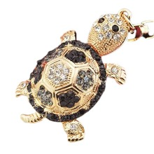 4 Colors Little Crystal Turtle Keychain Animal Key Chain Women Jewelry Accessories Bag Pendant Key Ring