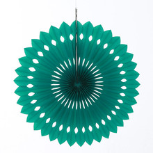 8pcs/lot 10inch=25cm Pinwheel Party Decorations Teal Foldable Honeycomb Paper Fan Hanging Birthday Bridal Shower Decors