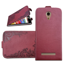 Brand Flip Case For Micromax Bolt Pace Q402 3D Embossing PU Leather Protective Bags Cover With Card Pocket