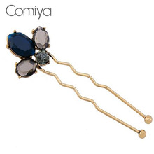 Comiya designer brand zinc alloy rhinestone mosaic hairpins for women wedding accessories hair jewelry online shopping india