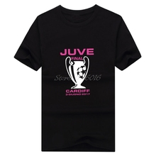 Men MAGLIA FINALE Champions League CARDIFF FINO ALLA FINE 2017 T-shirt Clothes JUVE Men's for juventus fans gift tee W0520005
