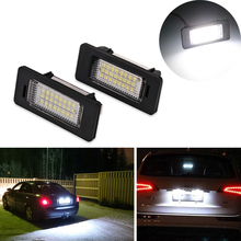 1 Pair For Audi A4 Car Led Number Plate Lights Lamp Bulbs Lighting Led License Plate Light For Audi Q5 A4 TT TTS TTRS A5 A6 A7(China)