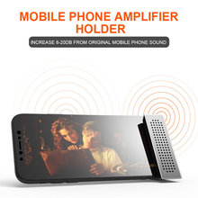 ABS Mini Loud speaker stereo amplifier Phone Holder Mount Bracket Stand coque smartphone iPhone Samsung