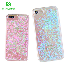 FLOVEME Glitter Quicksand For iPhone 6 6S 7 Plus 5 5S SE 4S Case For Samsung S6 S7 Edge A5 2016 Note 4 5 Cute Phone Accessories