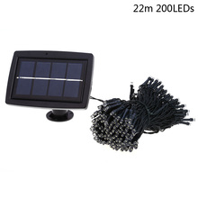 200 LED 22M Solar Lamp Fairy String Lights Solar Power Outdoor Lighting 2 Modes Waterproof For Garden Light LED Strip Light