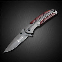 PEGASI Browning Folding Knife Titanizing Stainless Steel Blade Outdoor Camping Practical Portable EDC Knives Tool