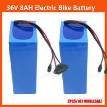 Europe no tax 36V lithium battery 36V 8AH Electric Bike battery with PVC case BMS 42V 2A Charger 2PCS Wholesale