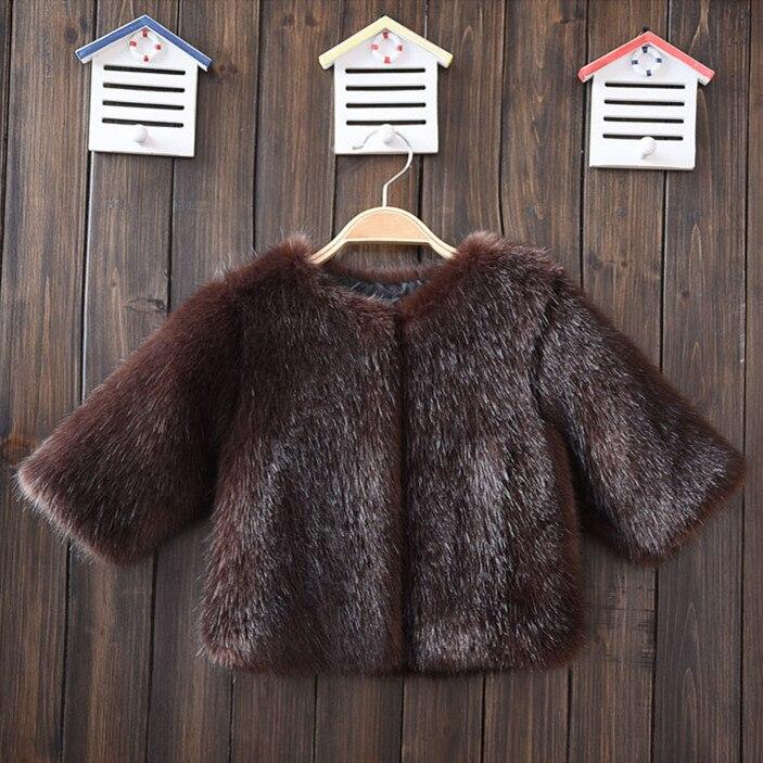 High Quality 2017 Winter Black Mink Fur Coat for boy Toddler Faux Fur Coat Long Sleeve Clothes Girls Fur Outwear Kid Fur Jacket<br><br>Aliexpress