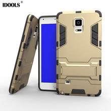 IDOOLS for Samsung Galaxy Note 4 Case Hybrid Dual Heavy Duty 3D Armor Stand Cases Cover For Samsung Galaxy Note 4 N9100 Coque(China)