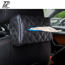 ZD 1Pc Car Hanging Tissue Paper Box for BMW E39 E90 E60 E36 F30 F10 E34 E30 Mini Cooper Audi A4 B8 A3 A6 C6 Q5 A5 Accessoriess(China)