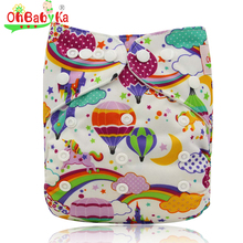 Ohbabyka Baby Nappies 2016 Brand Bamboo Infant Cloth Diaper Covers Reusable Baby Diapers Adjustable Infant Nappy Cover 0-3years(China)