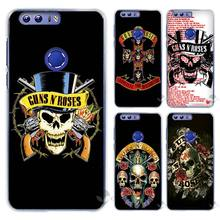 Hot sale  guns n roses Hard Clear Case Cover Coque Shell for Huawei Honor 4 4C 4X 5 5C 5X 6 7 8 6X V8 Plus