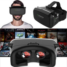 "VR Shinecon Helmet VR Box Cardboard for 4.7-6"" Smartphone Mobile Phone 3D Movie Game Cinema Virtual Reality 3D Glasses Glass(China)"