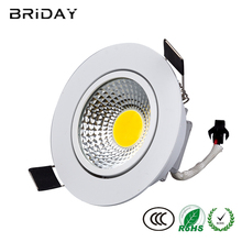 1pcs Dimmable Led downlight light COB Ceiling Spot Light 3w 5w 7w 9w 12w 15w 85-265V ceiling recessed Lights Indoor Lighting(China)