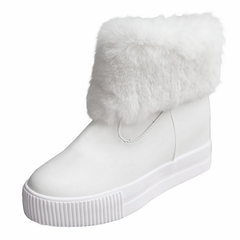 Women ankle boots 2017 new arrivals high quality snow boots warm winter shoes height increasing platform women boots<br>